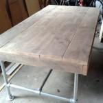 Steigerhouten tafel onbewerkt